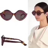 Wholesale men red lips online - Fashion popular avant garde style charming lips shape with diamonds frame top quality UV protection eyewear with original box S