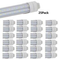 36w floresan lamba toptan satış-4ft led Tüp Işık Fikstürü 36 w T8 led Çift Sıra V Şekli R17D Temizle Kapak 3000 k 6500 k F48T12 HO lamba Floresan Işık