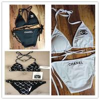 overall badeanzüge großhandel-2019 sexy frauen tanga bikini bikini overall push-up bh monogramm badeanzug tune-up strand badeanzug