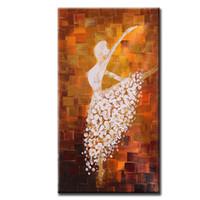 ballettplatte kunst großhandel-60 * 120 cm Ungerahmt Handgemalte Abstrakte Ölgemälde Balletttänzer Bild Leinwand Farbe Wandkunst für Wohnzimmer Dekoration
