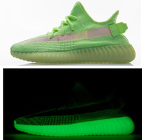 Wholesale glow footwear for sale - Group buy PK Version V2 GID Glow EH5360 Glow In Dark Designer Sneakers Shoes With Box V2 True Form Clay Hyperspace Static Running Shoes Footwear