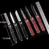 avcılık bıçakları toptan satış-Kamp avcılık bıçaklar OTO MIKRO-TECH UTX-85 Otomatik Bıçak MT bıçak CNC eylem taktik kesici dişli bıçaklar Katlanır bıçaklar cep bıçaklar