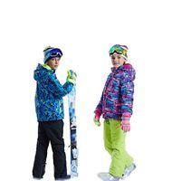 niños chicos trajes de esquí al por mayor-Traje de ropa deportiva de esquí para niños Traje de esquí de diseñador para hombre Chicos y chicas Traje de esquí a prueba de viento impermeable, grueso y cálido 49
