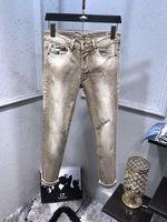 kahverengi pantolon toptan satış-YENI MODA MENS TASARIMCI BEYAZ JEANS KAHVE DIZELI CLASSI DÜZ REKLAM CASUAL TROUSERS COWBOY ÜNLÜ MARKA Fermuar Tasarımcı TASARIMCI SICAK SATIŞ BOYUTU 29-40