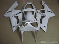 molde de carenado abs al por mayor-Kit de funda de inyección para Kawasaki Ninja 636 ZX6R 2003 2004 kits de carenado blanco ZX6R 03 04 MT60