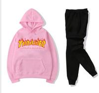 sportkleidung mode femme groihandel-Fashion Marke Anzug Frauen-Sport-Klage Hoodie + Pant Jogging Femme Marque survêtement Sport 2er Set