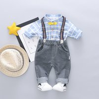 af7fbda20c4f cute boy clothes toddlers Canada - HYLKIDHUOSE 2019 Spring Toddler Infant  Clothes Suits Gentleman Style Baby