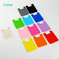 Wholesale 3m adhesive cell phones for sale – best Phone Card Holder Silicone Cell Phone Wallet Case Credit ID Card Holder Pocket Stick On M Adhesive with OPP bag