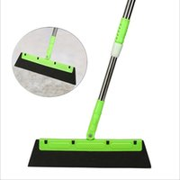 Wholesale plastic brooms resale online - Mops Magic Broom Multi function Mop Extendable Silicone Water Wiper Scraper Brush Dust Window Shovel Removal Cleane rMagic Mop DHC103
