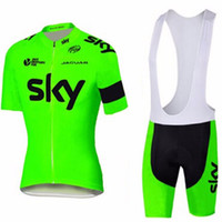 Wholesale black sky bike jersey for sale - Group buy 2019 SKY Triathlon UCI team Pro Cycling Jersey Ropa Ciclismo Mountain Bike Short Sleeve Cycling Clothing Summer Breathable bib shorts set