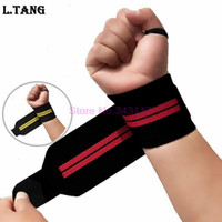 Wholesale weightlifting bands for sale - Group buy 1 Pair Sports Weightlifting Wrist Support Fitness Training Gloves Weight Lifting Wrist Bands Straps Wraps Gym Weightlifting S350
