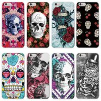 Wholesale skull iphone cell case online – custom Skull Head Pattern Crashproof Soft Back Cover TPU Cell Phone Cases Protective Covers For Apple iPhone X XR XS MAX S PLUS Samsung