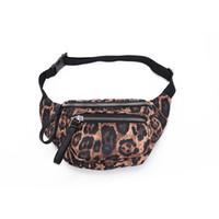 bolsos de moda de la bolsa de la cintura al por mayor-Leopard Waist Bag Unisex Cinturón Impermeable Riñoneras Moda Cofre Bolso Monedero mujer Teléfono Bolsa LJJM2360