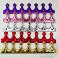 cosplay coroa venda por atacado-Crown Headwear brilhante coroa Rei Rainha Princesa Cabeça de Hoop Fancy Dress ajustável Crianças Adulto Props Cosplay Partido Chapéus Decoração GGA2959