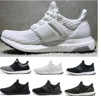 oreo chaussures vente achat en gros de-Adidas Ultra Boost 2019 Meilleures Ventes Designers Ultra Casual Chaussures 3.0 4.0 Hommes Femmes Stripe Balck Blanc Oreo Chaussures Taille 36-45