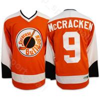 ingrosso punto di aggancio-Syracuse Bulldogs Hockey su ghiaccio 9 Tim Dr Hook McCracken 2 Ogie Ogilthorpe Slap Shot SlapShot Movie Maglie Uomo Orange Stitched Spedizione gratuita