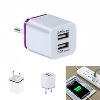 Wholesale cell phone accessories plugs resale online - Cell Phone Accessories Charger V A dual USB charger fast charging for iphone xs max wall adapter eu plug