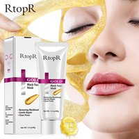 Wholesale mud blackhead removal for sale - Group buy RtopR Gold Blackhead Removal Mask Acne Treatment Face Pore Peeling Nose Cleansing Golden Mud Blackhead Remove Hydrating Mask Skin Care DHL