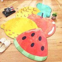 wassermelone teppich groihandel-Karikatur-Frucht-Form Ananas Apfel Wassermelone Startseite Schlafzimmer Kinderzimmer Teppichboden-Matten