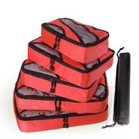 ingrosso kit di igiene-5 pezzi / set di alta qualità Oxford Mesh Cloth Travel Bag Organizer Bagagli imballaggio Cube Organizer Personal Hygiene Kit borse da viaggio