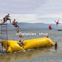 aufblasbares spielzeug zum springen großhandel-Freies Verschiffen 7x3m aufblasbarer Wasser-Klecks, Klecks-Sprungs-Wasser-Spielwaren, Wasser-Klecks-springender Beutel, aufblasbares springendes Kissen