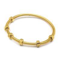 Wholesale male female bangle bracelets for sale - Group buy Titanium steel Fashion brand the latest screws bracelet bangle ladies male and female couple thread love bracelet banlge for women jewelry