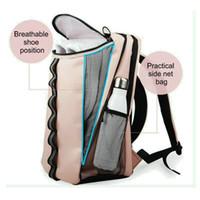 Wholesale women weekender bag resale online - Pink Sports Gym Bag With Shoe Compartment Bag Women Lightweight Travel Duffel Outdoor Travel Weekender Backpack Men