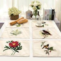 китайские кухонные украшения оптовых-CAMMITEVER цветок цветочный коврик для стола украшения домашнего стола аксессуары теплоизолированная посуда Placemat кухня