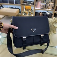 Wholesale man s bag canvas for sale - Group buy Fashion Classic Luxury Package Canvas Leather Cowhide Men s Shoulder Bag Top Quality Handbag Designer Crossbody Bags Size cm