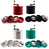Wholesale end grinders resale online - Four Layers Grinder Zinc Alloy Hand Grinders Blue Red Green Black High End Smoking Set Accessory Creative xy L1
