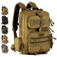 ordu yürüyüş çantaları toptan satış-Ordu Taktik Sırt Çantası 30L Mochila Militar 14 inç Laptop Sırt Çantası Açık Kamp Yürüyüş Kamuflaj Çantası Bolsa Tatica