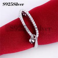 ingrosso anelli di stile moderno-HOPEARL gioielli lungo ovale zirconi perla anello in argento sterling 925 anello di nozze stile moderno e grassetto