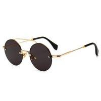 hipster sonnenbrillenmarken großhandel-Runde runde sonnenbrille für frauen männer marke designer metallrahmen retro einzigartig hipster Shades designer straße eyewear