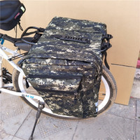 Wholesale bicycle seat storage bags resale online - Bicycle Storage Pack Bag Double Back Package Camouflage Shelf Bags Riding Equipment Mountain Bike High Capacity cof1