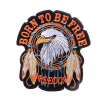 ingrosso grandi patch cucite-Grandi dimensioni Eagle Ricamo Patch American Tradition Libertà Eagles Cucire ferro sul distintivo di patch Applique Distintivi fai da te per i vestiti per la giacca