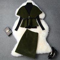 ingrosso nuova gonna lunga alla moda-abbigliamento invernale 2019 di nuovo stile a maniche lunghe maglione Capo gonne cappotto delle donne europee e americane moda vestito di lana