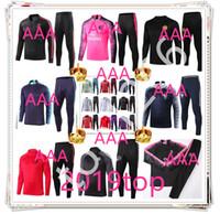 Wholesale 19 new psg pink chandal psg soccer ronaldo mens designer tracksuits chandal training football foot ronaldo mbappe chandal futbol jacket kit