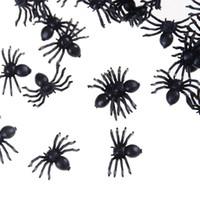 поддельные пауки оптовых-2500 шт хэллоуин декоративные пауки маленький черный пластиковый поддельные игрушки паук, которые выглядят реальным новизна смешная шутка шалость реалистичные реквизит AIJILE