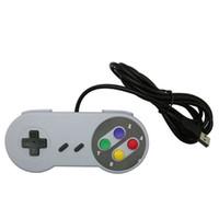 usb juegos de pc pads al por mayor-1pc controlador USB Gaming Joystick Gamepad Controller para Nintendo SNES Game Pad para Windows PC MAC Control por computadora Joystick