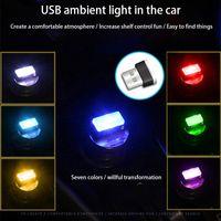 Car USB Atmosphere Light LED Free Decoration Light Inner Car Footlight Car Atmosphere Light with Adapter B