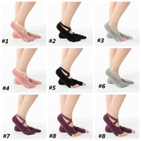 Wholesale finger point resale online - Cotton Yoga Socks Five finger Wear resistant Non slip Four Season Breathable Split Toe Point Floor Socks Sport Socks ZZA2093