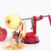 Wholesale apple peelers resale online - Multi Function Apple Peeler Stainless Steel Fruit Pear Slicing Machine Portable Chipper Peeled Cutter Zester Kitchen Tools EEA465