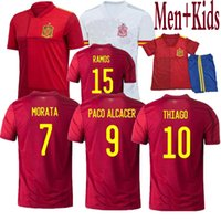 Wholesale shirt and top for sale - Group buy Top quality Spain Soccer Jersey PACO ALCACER ASENSIO MORATA ISCO INIESTA THIAGO SAUL man and kids Sport Football shirts