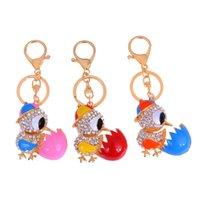 coruja chaveiros venda por atacado-Bonito Chains Owl Crystal Key Rings Titular Para Mulheres Flor Bolsa Saco fivela pendente para o carro Chaveiros KeyChains K288