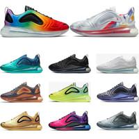erkekler ayakkabı ebatları toptan satış-nike air max 720 Erkekler için 2019 koşu ayakkabıları womens üçlü beyaz siyah Kuzey Işıkları KARBON GRI Neon sunset DESERT ALTıN eğitmenler spor sneakers ...