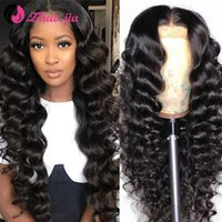 Wholesale ZHUO JIA Brazilian Lace Front Human Hair Wigs X6 HD Transparent Lace Frontal Wig Loose Deep Human Hair Wig Front