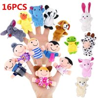 Wholesale cartoon animal finger puppet resale online - Kidlove Cartoon Animal Plush Finger Puppets Set Cute Dolls for Children Story Time Shows Playtime Schools