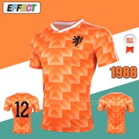 Retro 1988 Netherlands Soccer Jerseys Orange Classic Vintage Holland Euro  Germany Argentina ZIDANE HENRY MEXICO VAN BASTEN football Shirts. 16% Off c5d5feb44