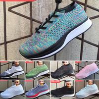 zapatillas pequeñas al por mayor-Nike Air Zoom Mariah Flyknit Racer Nuevos zapatos para niños Flywire Racer Lace up Mesh Infant Niños Deportes Zapatillas de deporte para niños pequeños grandes niño niña zapatilla