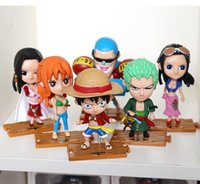 Wholesale anime one piece toy ship for sale - Group buy 10pcs set Japanese Anime model One Piece Action Figure Collection luffy Nami Dolls Toy for Children T200118